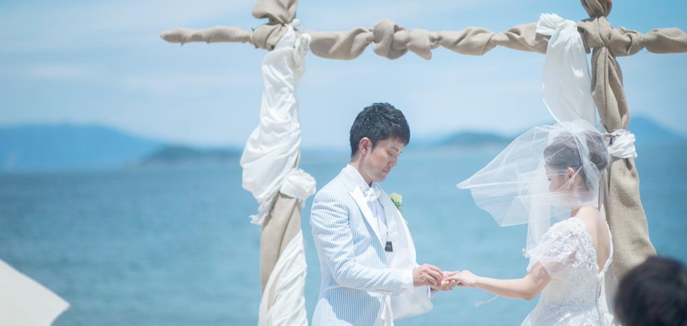 女木島での結婚式の風景